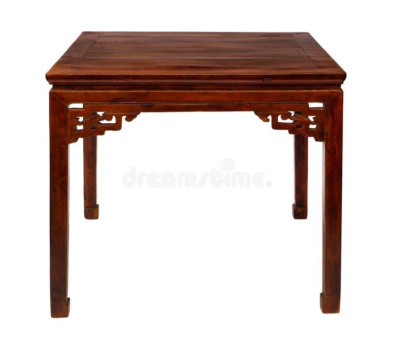 Style chinois en bois de table image libre de droits