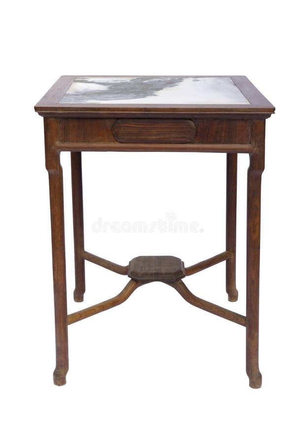 Style chinois en bois de table photo stock