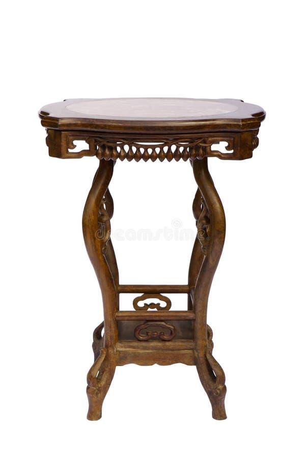 Style chinois en bois de table photographie stock libre de droits