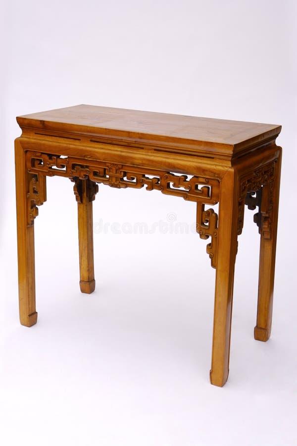 Style chinois en bois de table images stock