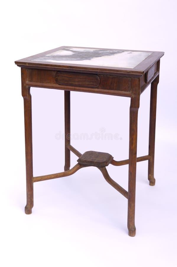 Style chinois en bois de table photo libre de droits