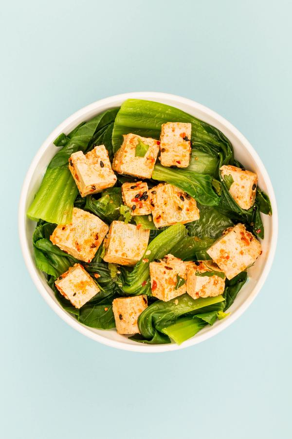 Style chinois Pak Choi With Tofu image stock