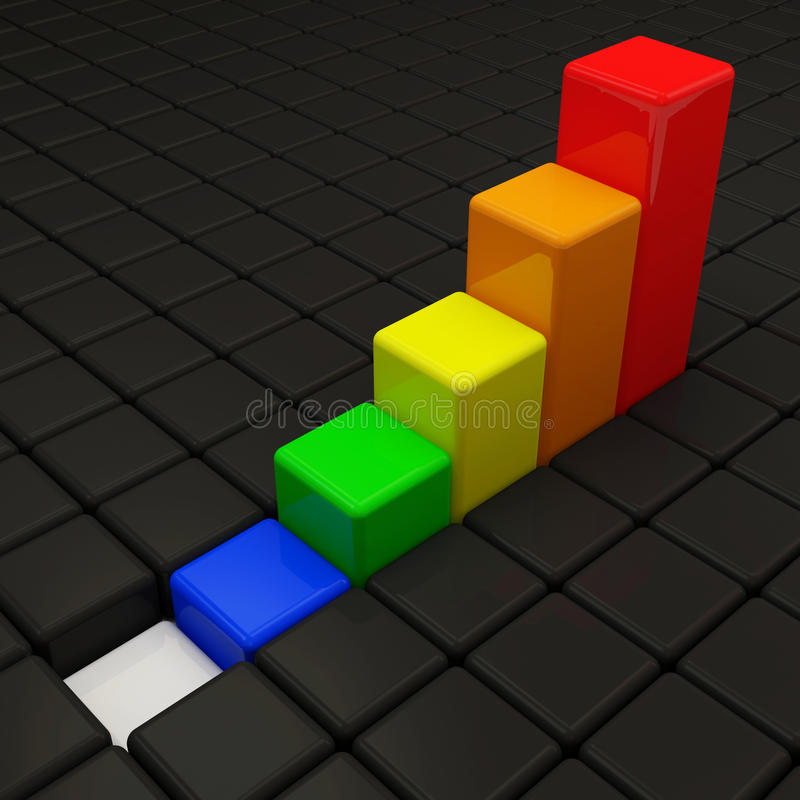 Download Style Colorful Cube Business Graph Stock Illustration - Illustration of increase, concept: 22658626