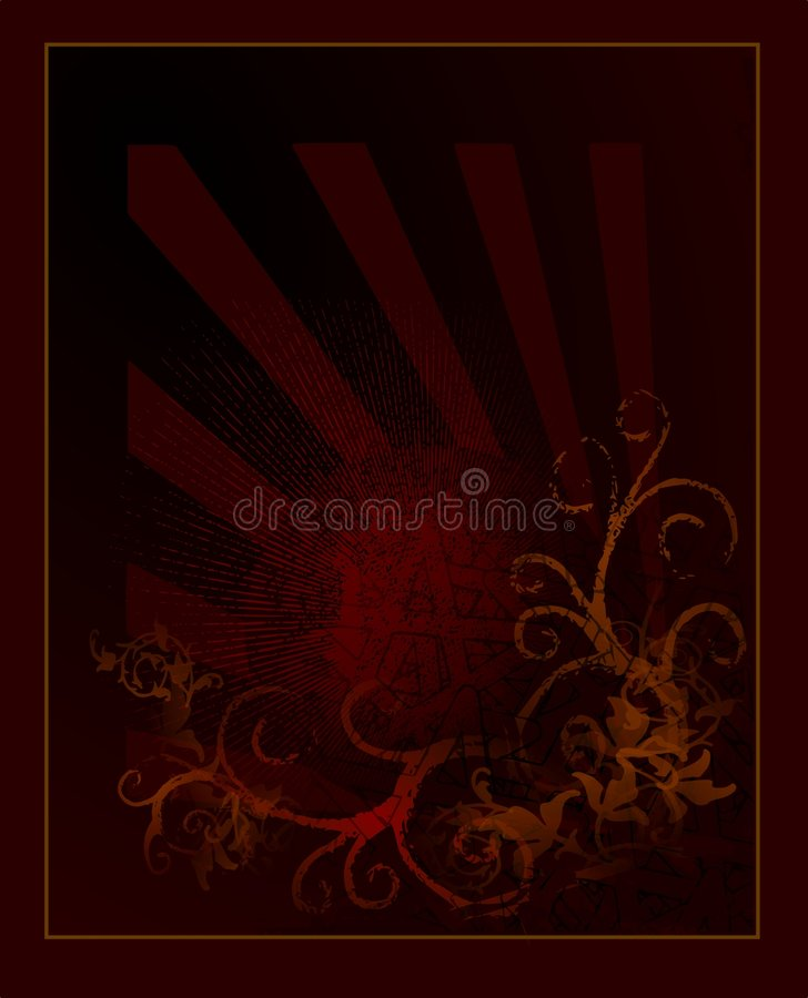 Style colour background. With ornaments vector illustration