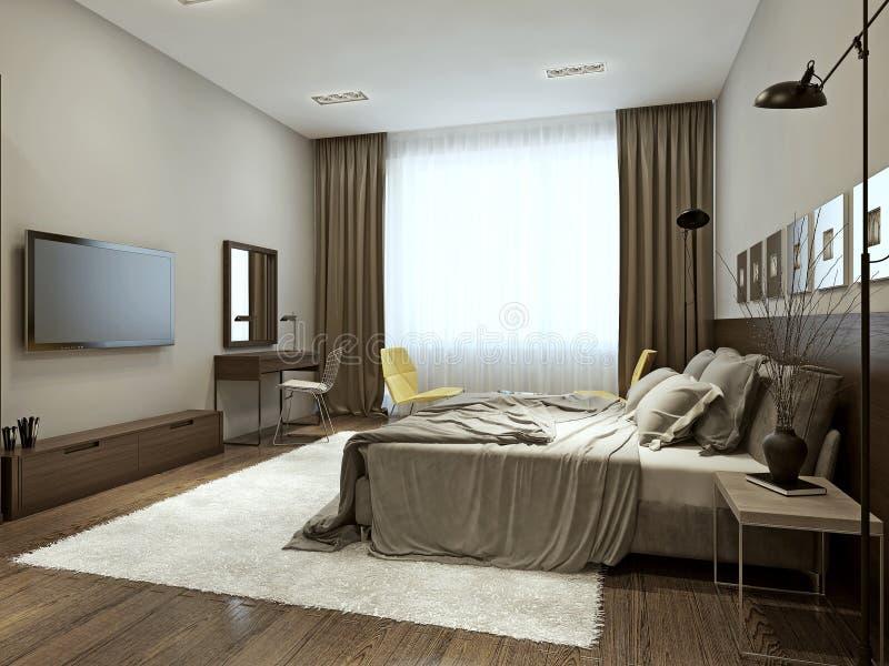 download style contemporain de chambre coucher illustration stock image 59212171 - Chambre A Coucher Style Contemporain