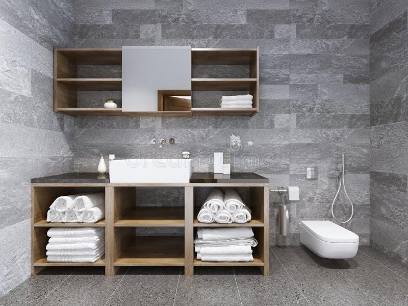 Style contemporain de salle de bains images libres de droits