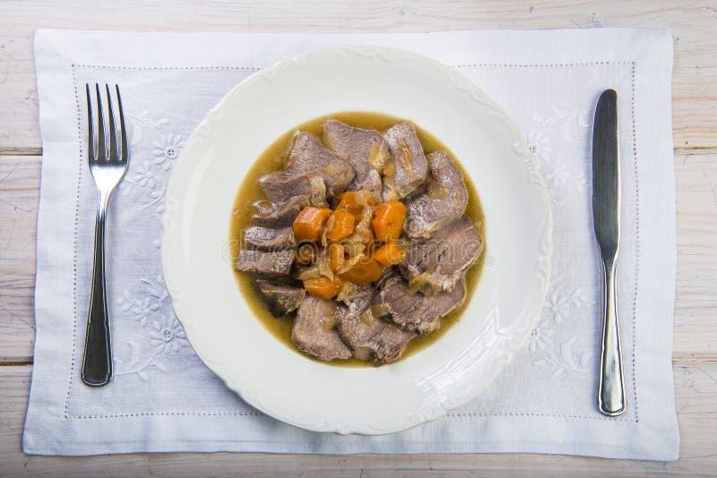Style cuit d'Espagnol de langue de porc image libre de droits
