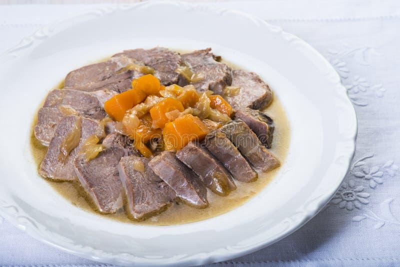 Style cuit d'Espagnol de langue de porc image stock