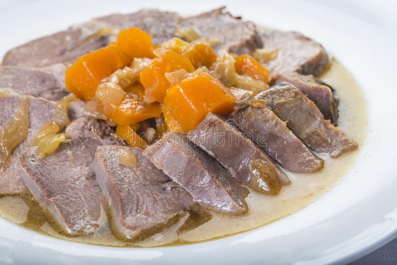 Style cuit d'Espagnol de langue de porc photographie stock libre de droits