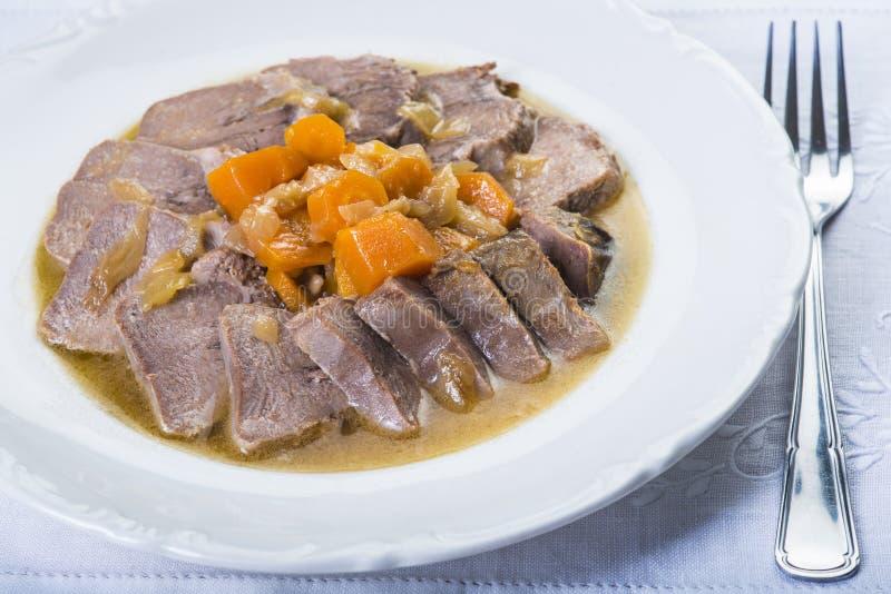 Style cuit d'Espagnol de langue de porc images stock