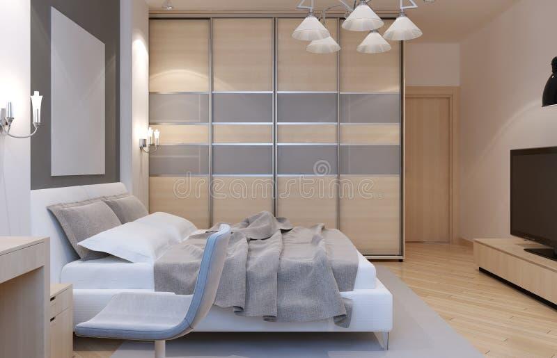 Style d'art déco de chambre à coucher principale illustration stock