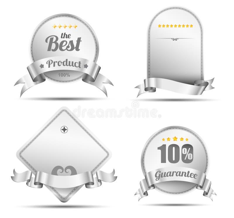 Style d'emroidery de bannière d'étiquette de vecteur illustration stock