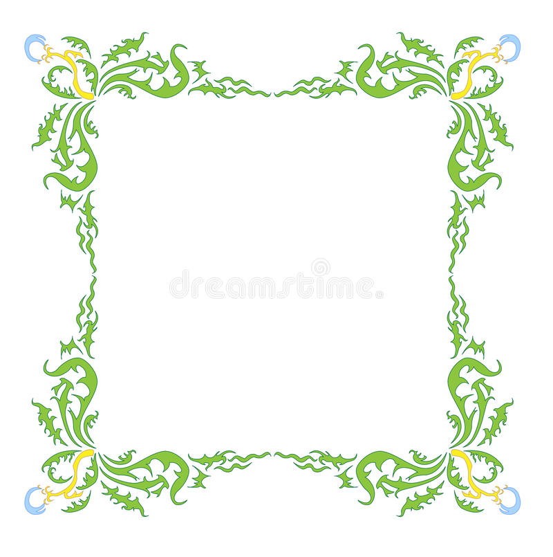 Download Style Dandelion Frame stock vector. Illustration of fuzz - 10732806