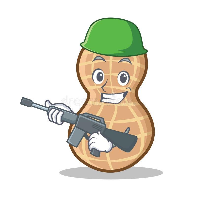 Style de bande dessinée de caractère d'arachide d'armée illustration de vecteur