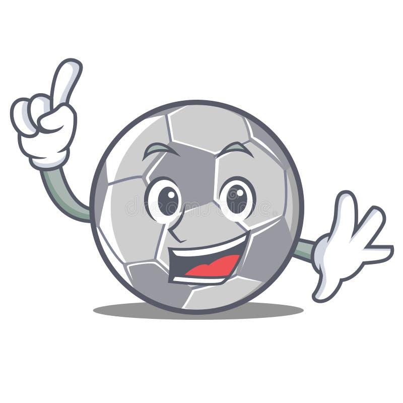 Style de bande dessinée de caractère du football de doigt illustration stock