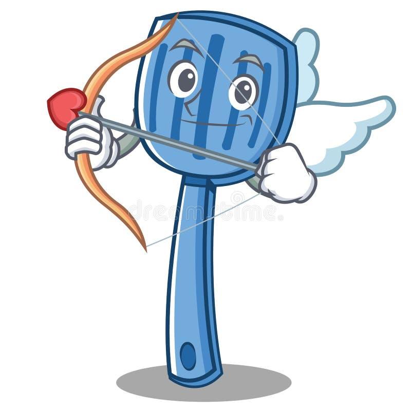 Style de bande dessinée de caractère de spatule de cupidon illustration libre de droits