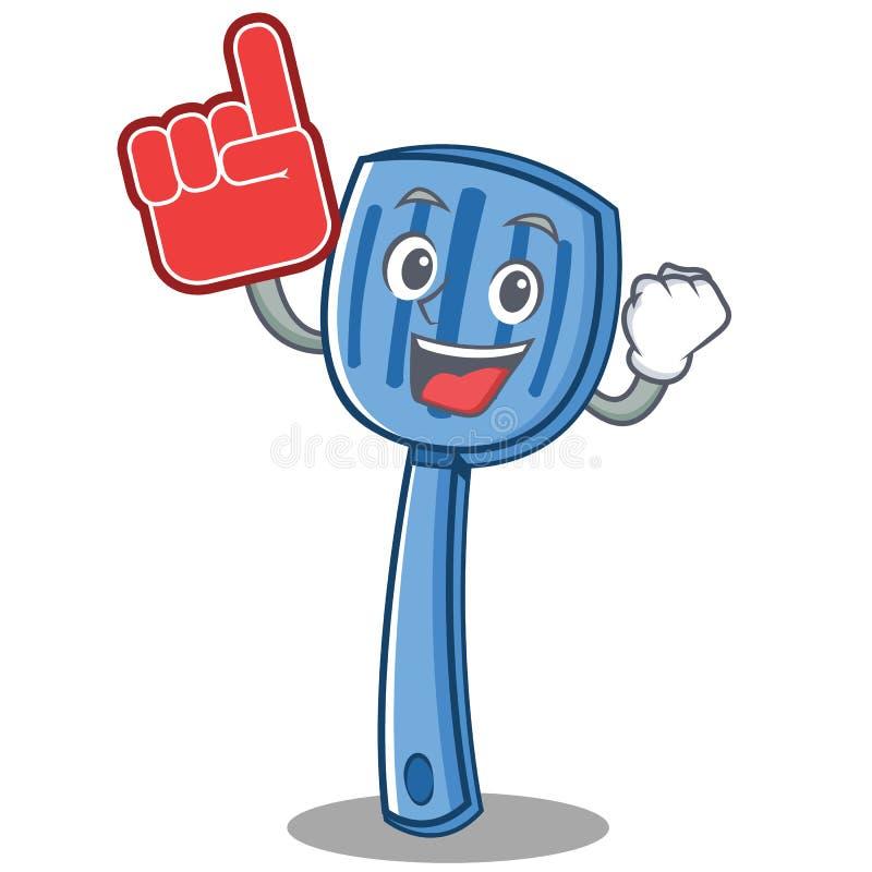 Style de bande dessinée de caractère de spatule de doigt de mousse illustration de vecteur