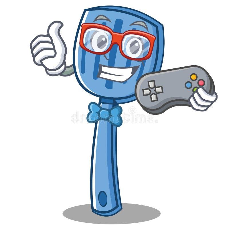 Style de bande dessinée de caractère de spatule de Gamer illustration de vecteur