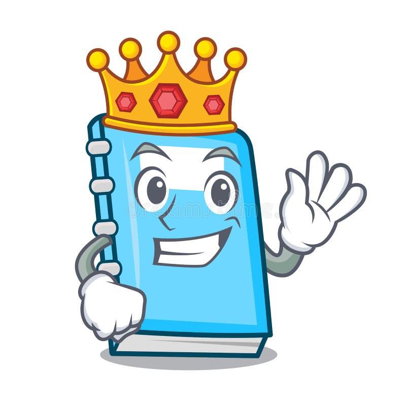 Style de bande dessinée de mascotte d'éducation de roi illustration libre de droits