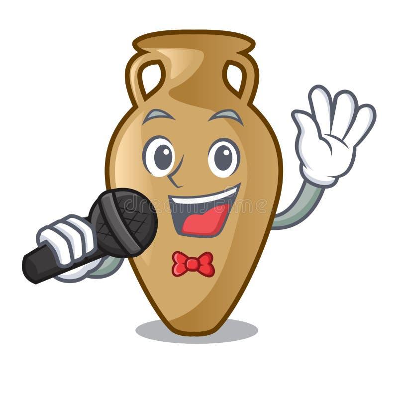 Style de bande dessinée de mascotte d'amphore de chant illustration libre de droits