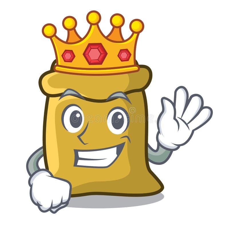 Style de bande dessinée de mascotte de farine de roi illustration stock