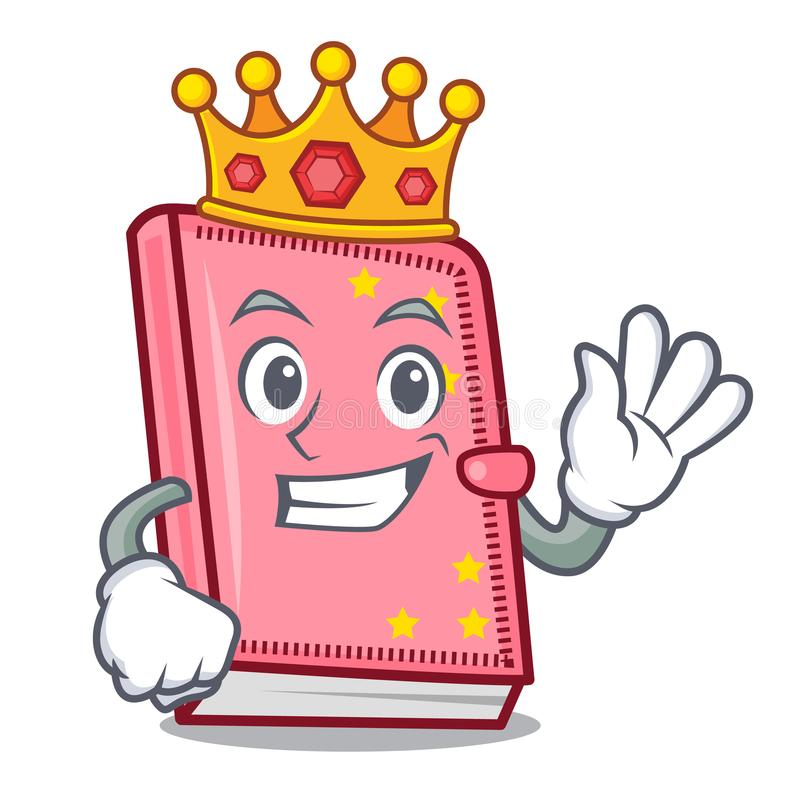 Style de bande dessinée de mascotte de journal intime de roi illustration de vecteur