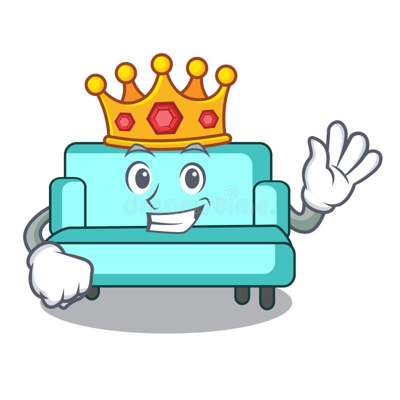 Style de bande dessinée de mascotte de sofa de roi illustration libre de droits