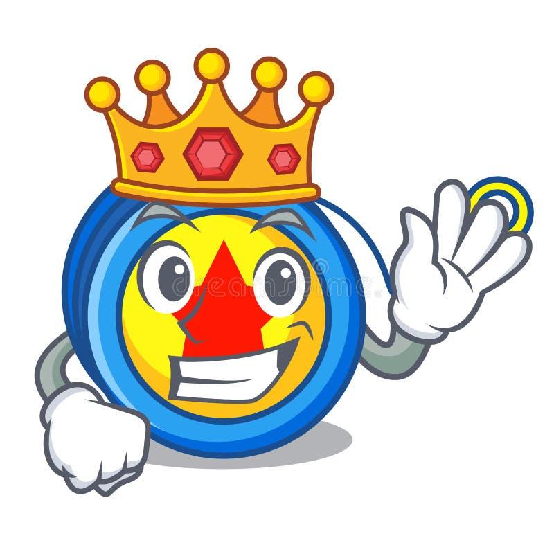 Style de bande dessinée de mascotte de yo-yo de roi illustration stock
