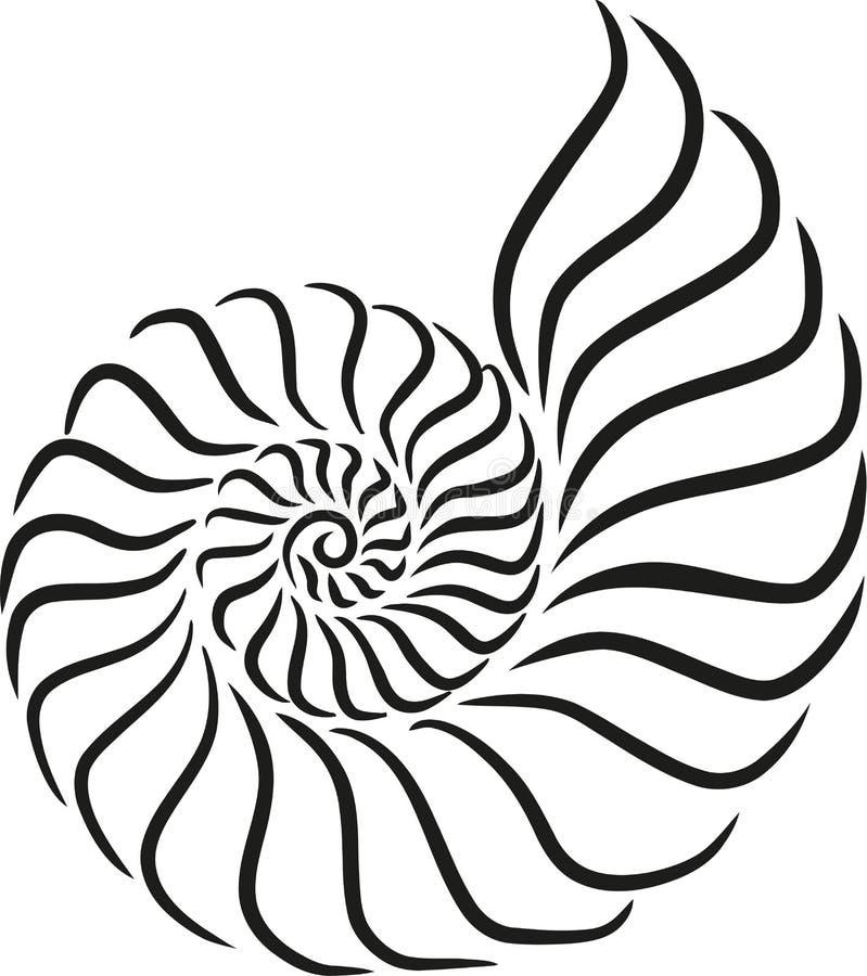 Style de calligraphie d'escargot de Shell illustration libre de droits