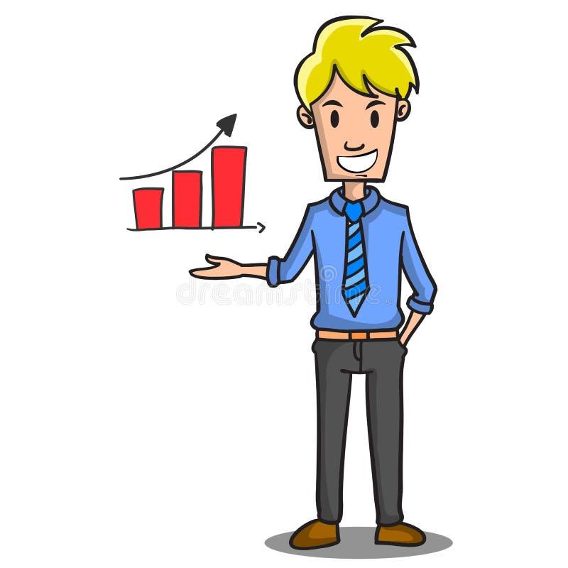 Style de conception de personnages d'homme d'affaires de réunion illustration stock