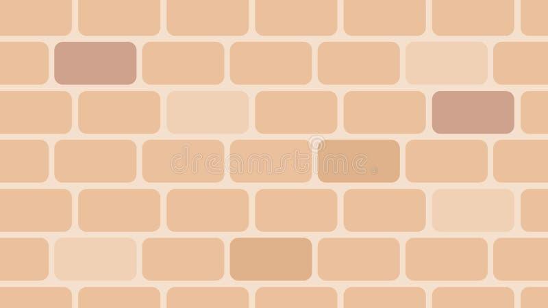 Style de conception de modèle de briques, chaud et propre réaliste illustration libre de droits