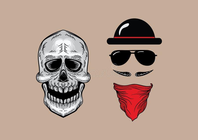 Style de crâne image libre de droits