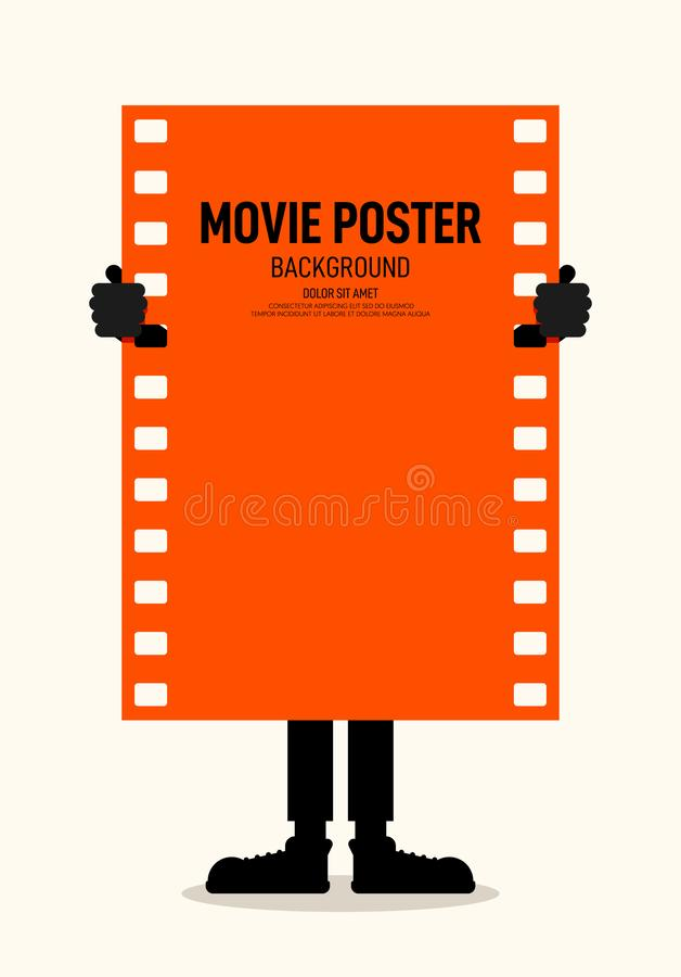 Style de cru moderne d'affiche de festival de film et de film rétro illustration de vecteur