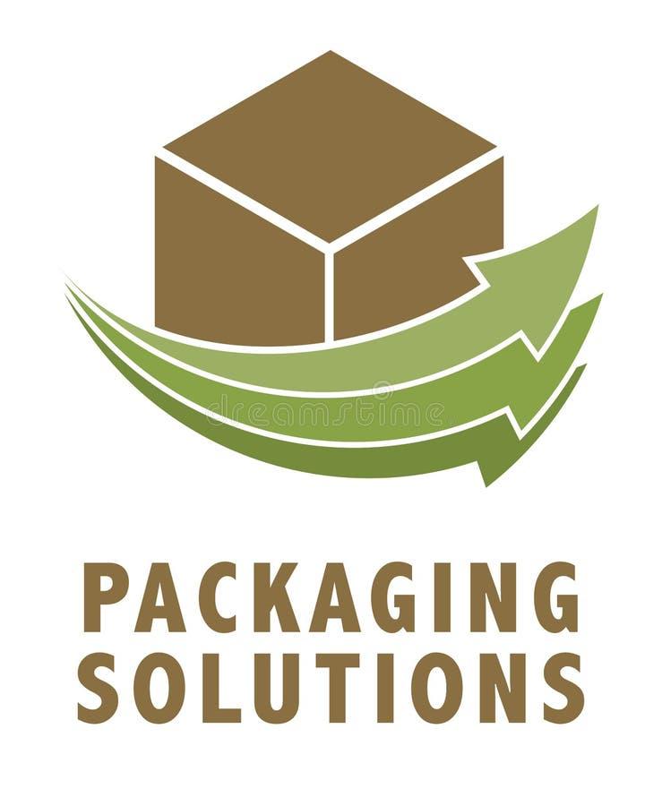 Style de empaquetage de vert de logo illustration de vecteur