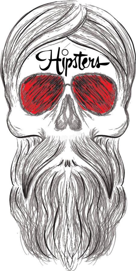 Style de hippie de silhouette de mode, illustration de vecteur illustration stock