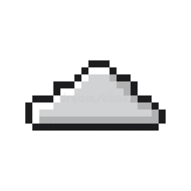 Style de jeu de bande dessinée d'art de pixel de nuage rétro illustration de vecteur