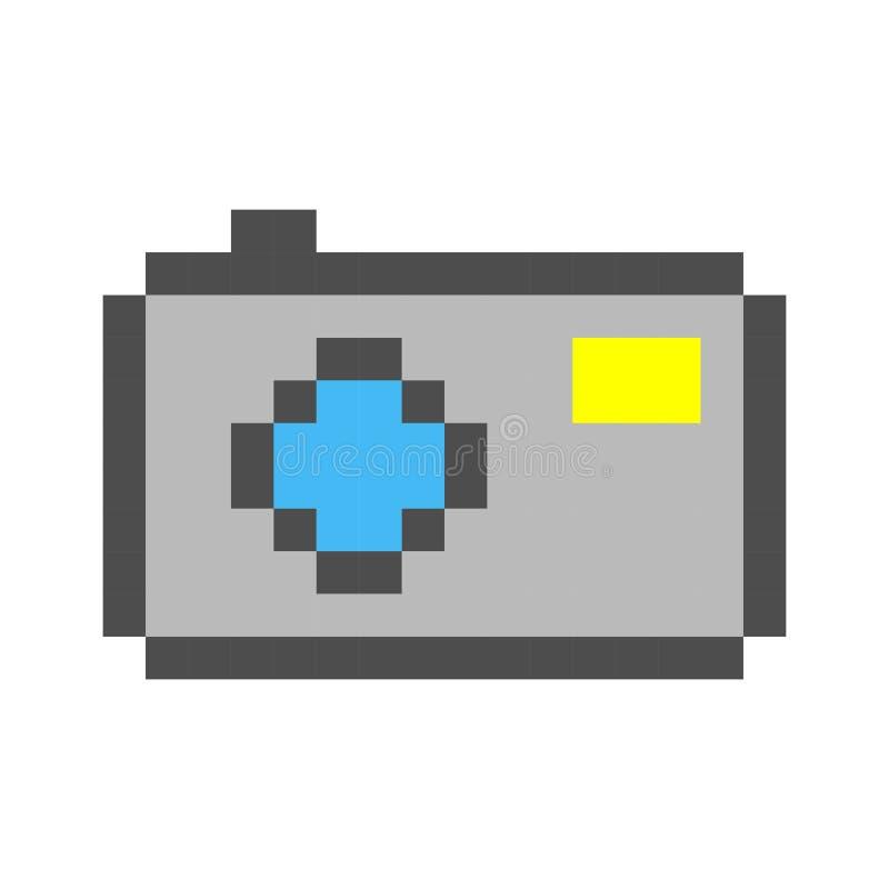 Style de jeu de bande dessinée d'art de pixel d'appareil-photo de photo rétro illustration libre de droits