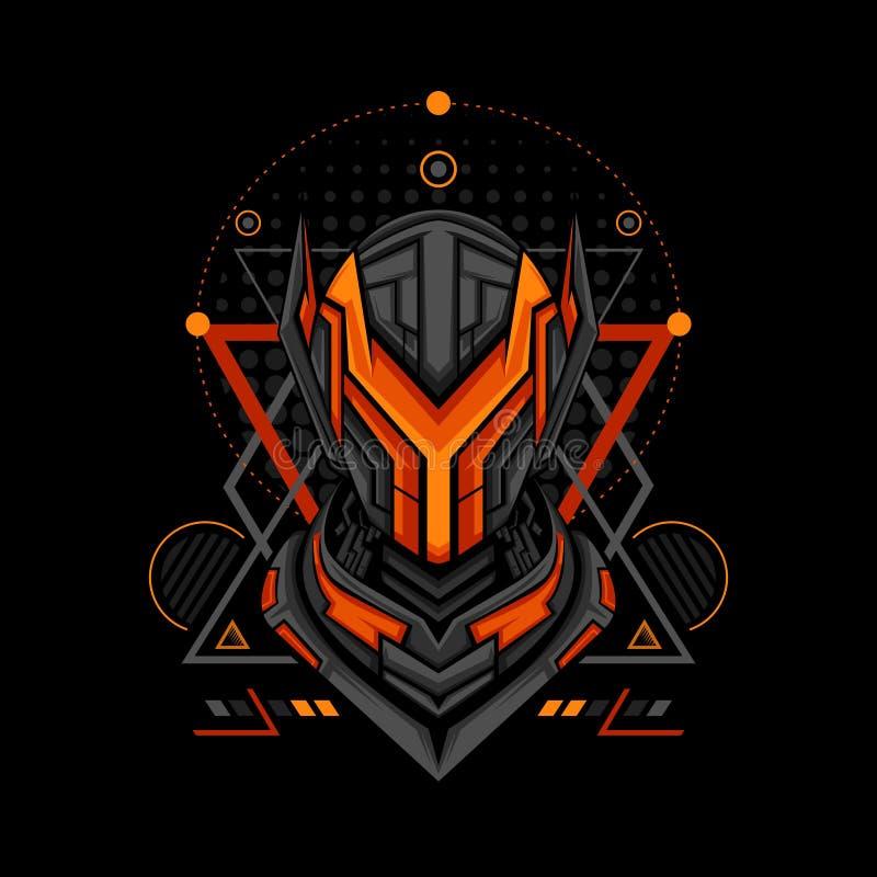 Style de style de la géométrie du projet Y illustration stock