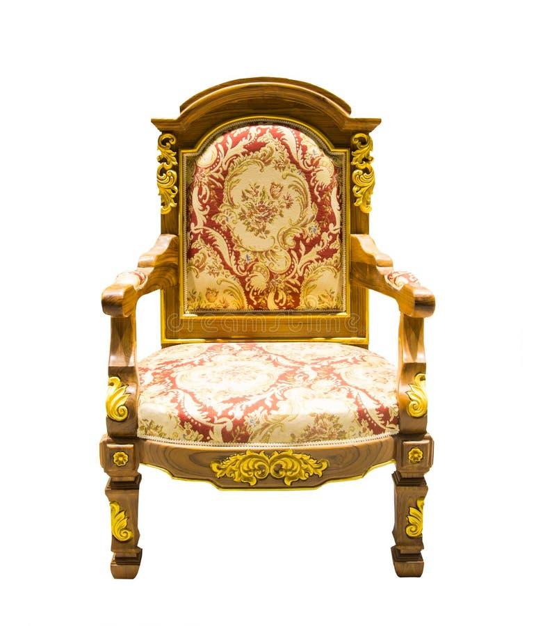 Style de la Thaïlande de fauteuil de vintage d'isolement photographie stock