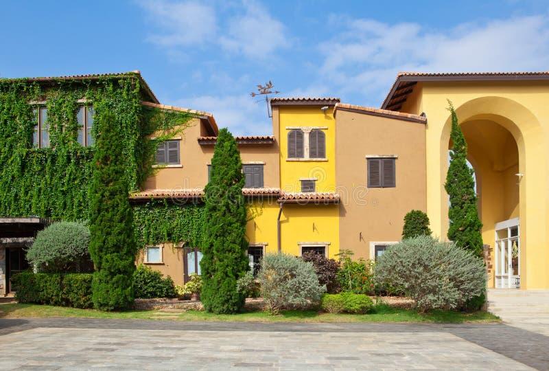 Style de maison de l'Italie images stock