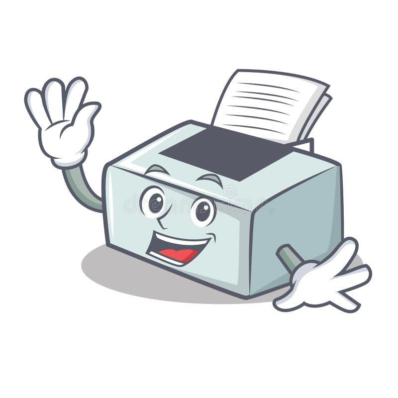 Style de ondulation de bande dessinée de caractère d'imprimante illustration de vecteur