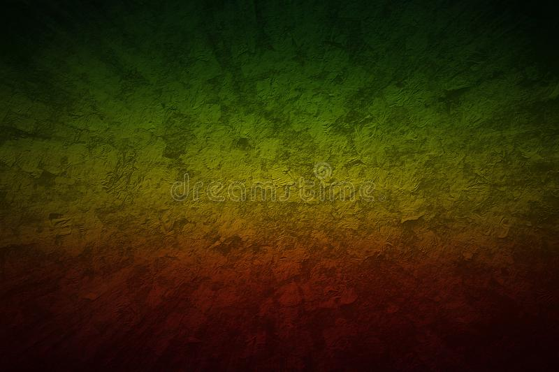 Style de reggae de couleur rouge, jaune, verte Backg grunge de vitesse de mouvement photo stock