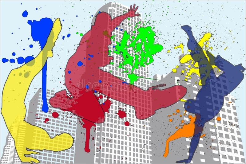 Style de vie d'Unban illustration libre de droits