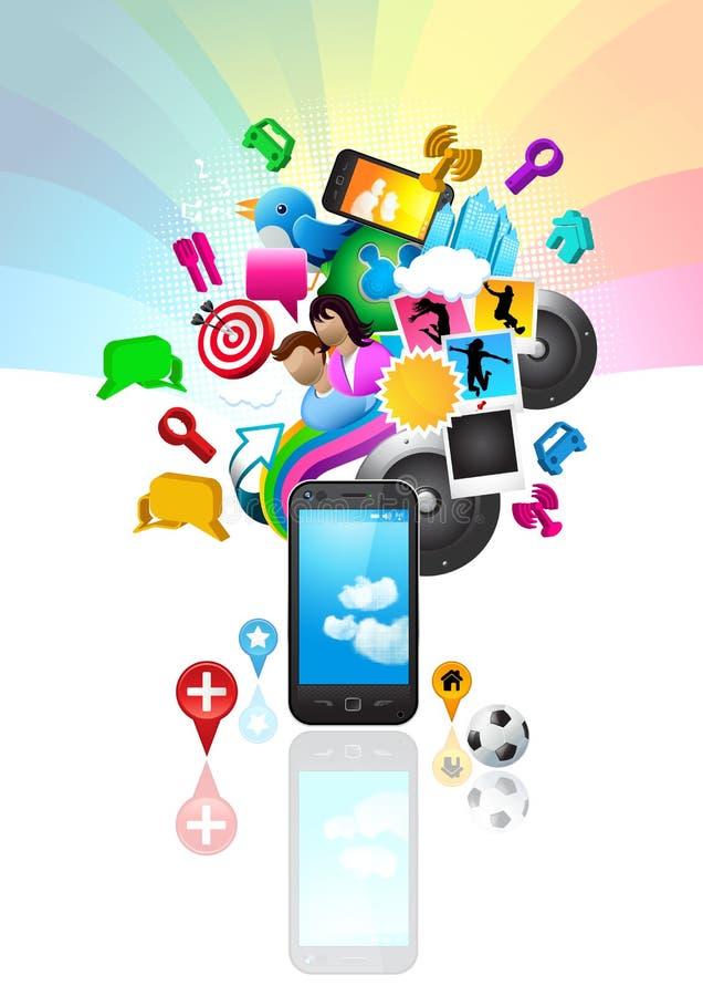 Style de vie de téléphone portable illustration libre de droits