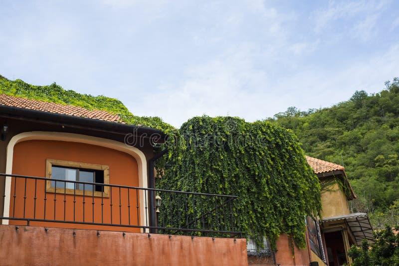 Style de vintage de balcon de la Toscane image libre de droits