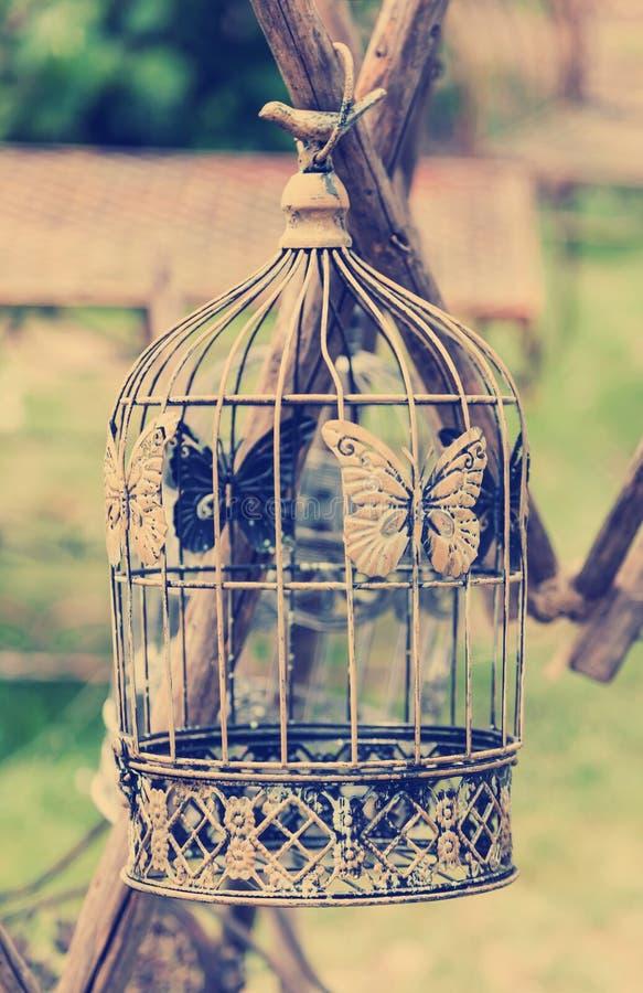 Style de vintage de la cage à oiseaux im images libres de droits