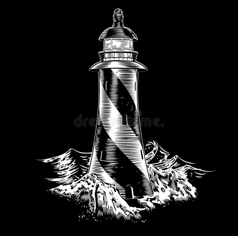 Style de vintage de phare illustration libre de droits