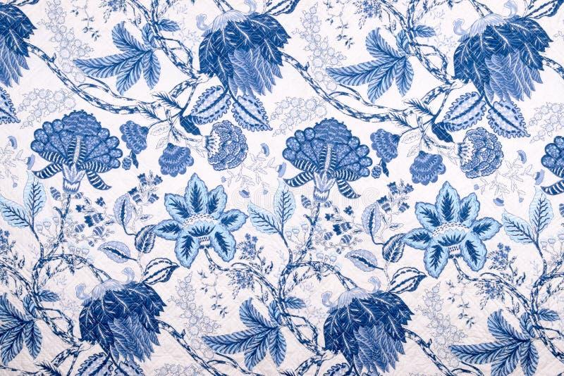 Style de vintage de modèle de tissu de fleurs couvrantes image libre de droits