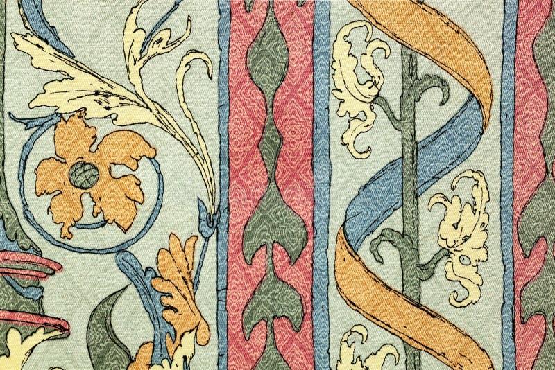 Style de vintage de tissu de tapisserie image stock