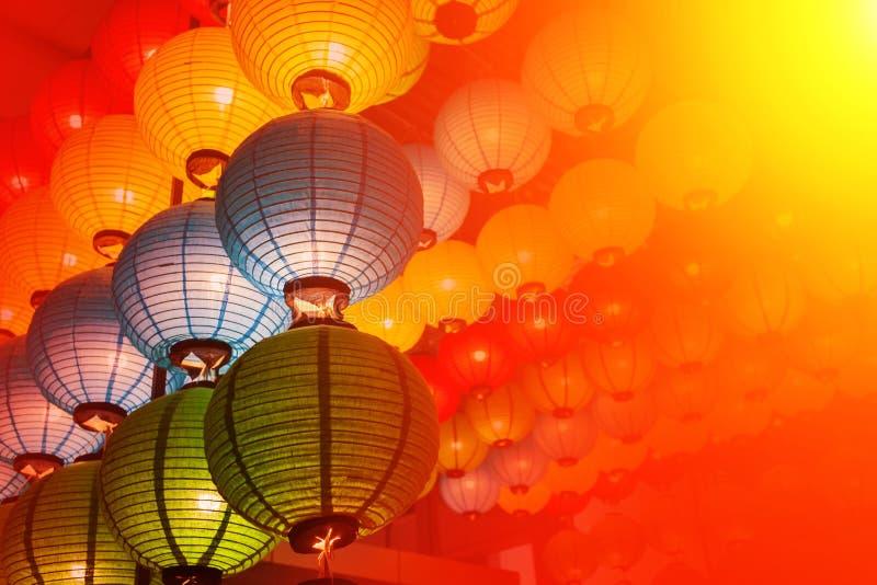 Style doux de lanterne de la Chine pendant la nouvelle année chinoise illustration de vecteur